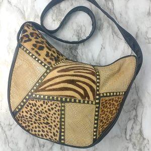 Handbags - Vintage-Animal Print Hobo Shoulder Handbag
